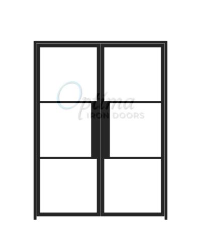 Narrow Profile Double Iron Door - OID-6080-NP3LT