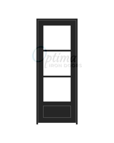 Standard Profile 3 Lite Single Iron Door - OID-3080-3LT1P