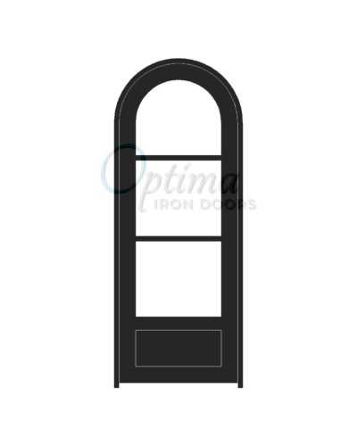Standard Profile Radius Top 3 Lite Single Iron Door - OID-3080-3LT1PRT