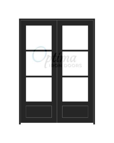 Standard Profile 3 Lite Double Iron Door - OID-6080-3LT1P