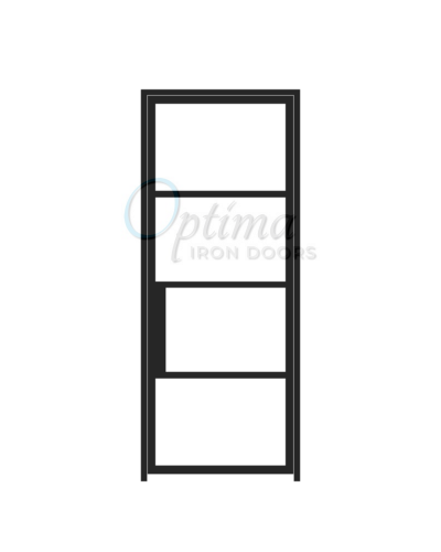 Narrow Profile 4 Lite Single Iron Door - OID-3080-NP4LT
