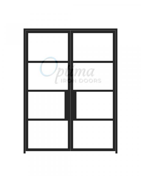 Narrow Profile 4 Lite Double Iron Door - OID-6080-NP4LT