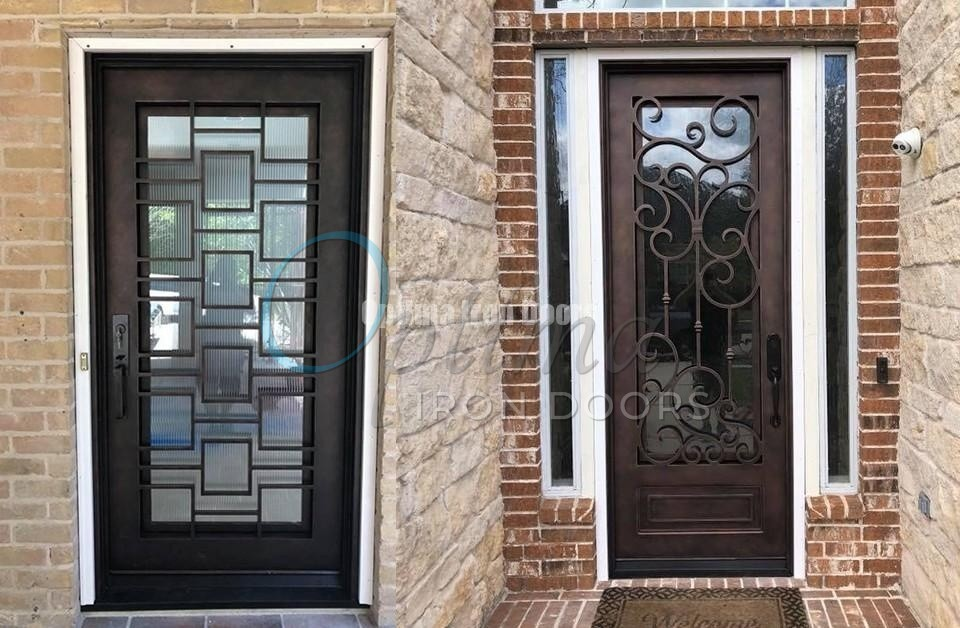 We offer Black, Copper Bronze and Antique Pewter finishes on all of our iron doors to compliment your home perfectly! www.optimairondoors.com